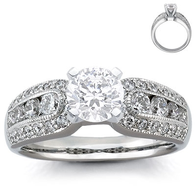 Engagement Ring: Pave & Channel-Set Diamonds, Platinum