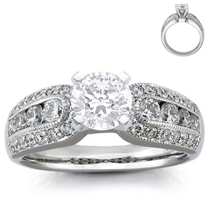 photo of Engagement Ring: Pave & Channel-Set Diamonds, Platinum
