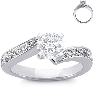 photo of Engagment Ring: Pave Diamonds, Intertwined, Platinum