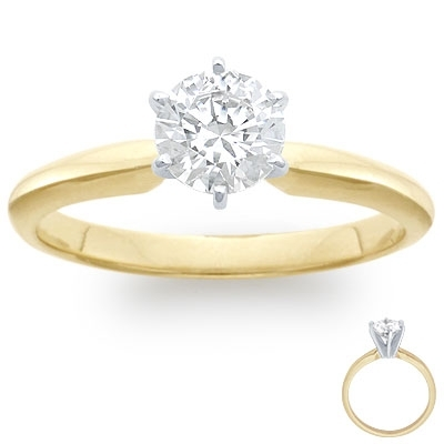 Engagement Ring: 6-Prong Solitaire, Gold