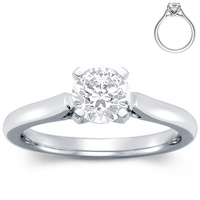 photo of Engagement Ring: Trellis Solitaire, Platinum