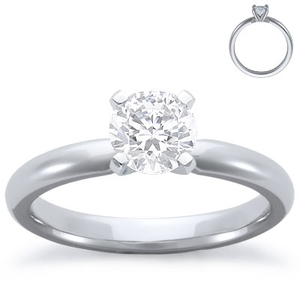 photo of Engagement Ring: Solitaire, Comfort Fit, Platinum