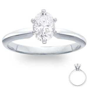 photo of Engagement Ring:  6-Prong Solitaire, White Gold