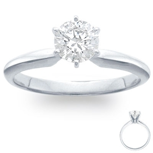 photo of Engagement Ring: 6-Prong Solitaire, Platinum