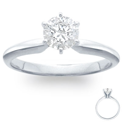 Engagement Ring: 6-Prong Solitaire, Platinum