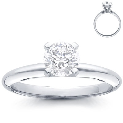 Engagement Ring: 4-Prong Solitaire, Platinum