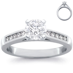photo of Engagement Ring: 10 Diamonds, White Gold