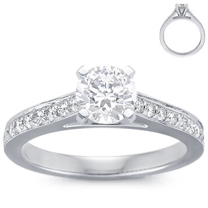 photo of Engagement Ring: Pave, Cathedral,  White Gold