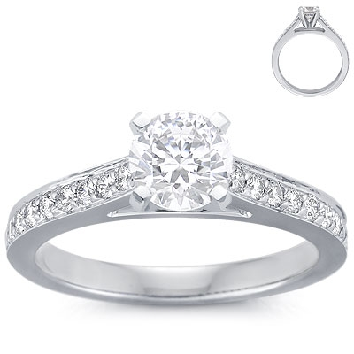 Pave-set-diamond-cathedral-engagement-ring-setting-18k-white-gold-.2ct.-band.original