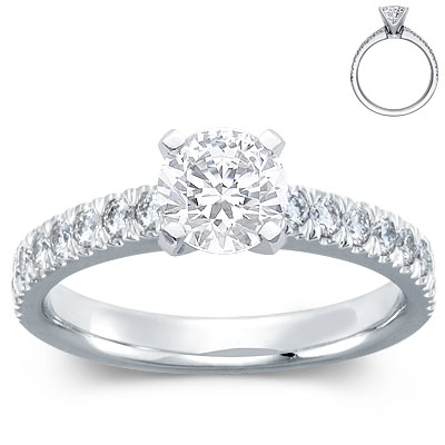Engagement Ring: 4-Prong, Round Diamonds, Platinum