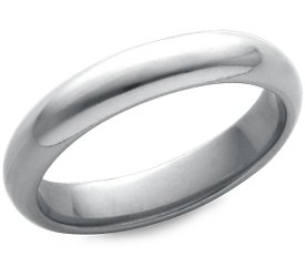 Wedding Ring: 4mm White Gold