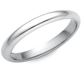 photo of Wedding Ring: 2.5mm White Gold