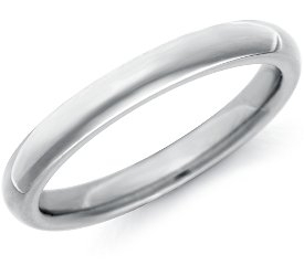Wedding Ring: 2.5mm Platinum