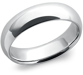 Wedding Ring: 6mm Platinum
