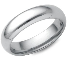 Wedding Ring: 5mm White Gold