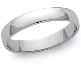 Wedding Ring: 4mm Platinum