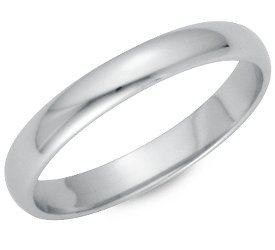 Wedding Ring: 3mm Platinum