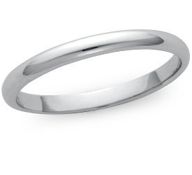 Wedding Ring: 2mm Platinum