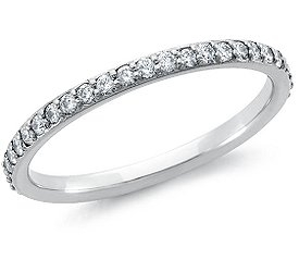 Eternity Ring: Pave Diamonds, White Gold