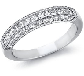 Wedding Ring: 28 Pave, 13 Princess Diamonds, Platinum