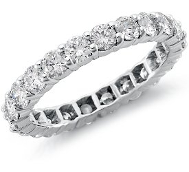 Eternity Ring: Round Diamonds, Platinum