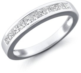 photo of Wedding Ring: 11 Princess Diamonds, White Gold