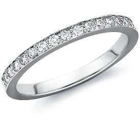 Wedding Ring: Pave Diamonds, White Gold
