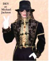 photo of Dev As Michael Jackson
