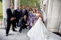 crazy_wedding_party_posing_in_front_of_smu_chapel_dallas_tx.jpg