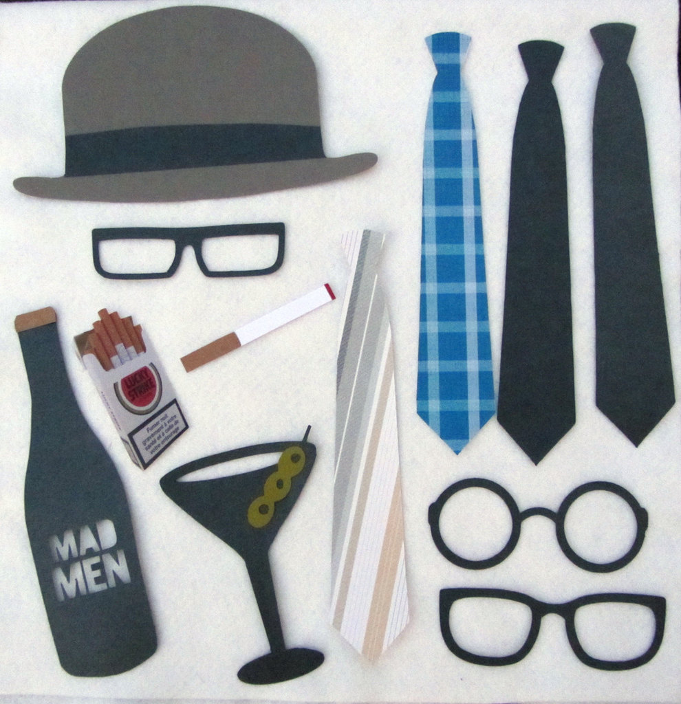 photo of Mad Men photobooth props