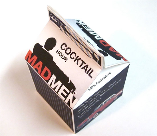 photo of Mad Men wedding favor boxes