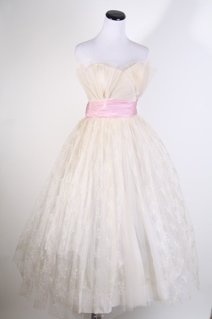 photo of 1950's tea length wedding dress