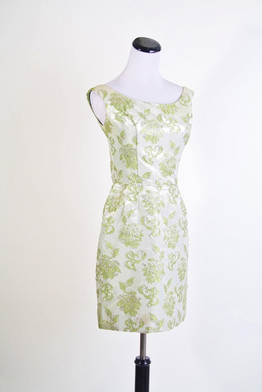 Green-silver-jacquard-bridesmaid-dress.full