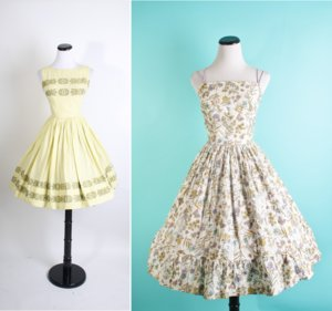 photo of mad men inspired bridesmaids dresses for spring summer weddings