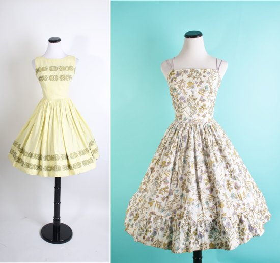 photo of Mad Men-inspired bridesmaids dresses