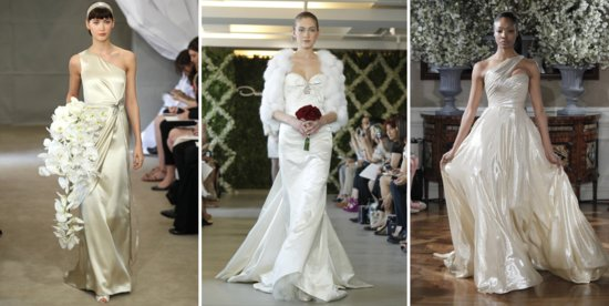 metallic wedding dress trend spring 2013 bridal gowns