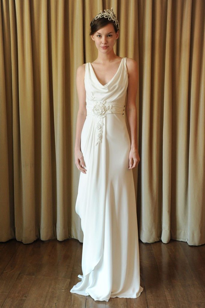 silk draped wedding dress temperley london onewedcom With draped wedding dress