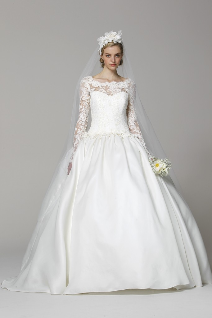 marchesa wedding dress spring 2013 lace sleeves kate