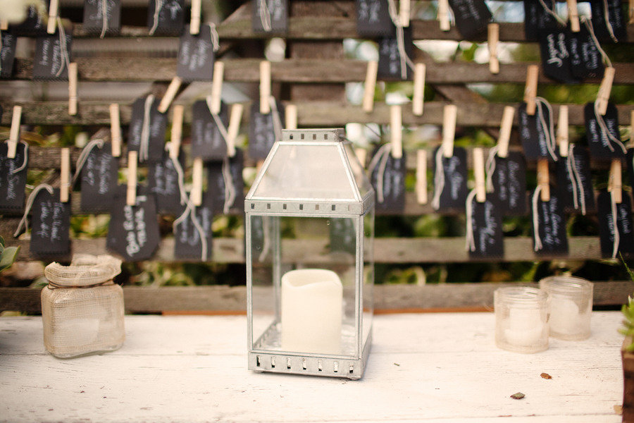 Rustic Elegant Backyard Wedding : rustic elegant real wedding outdoor wedding ceremony escort cards