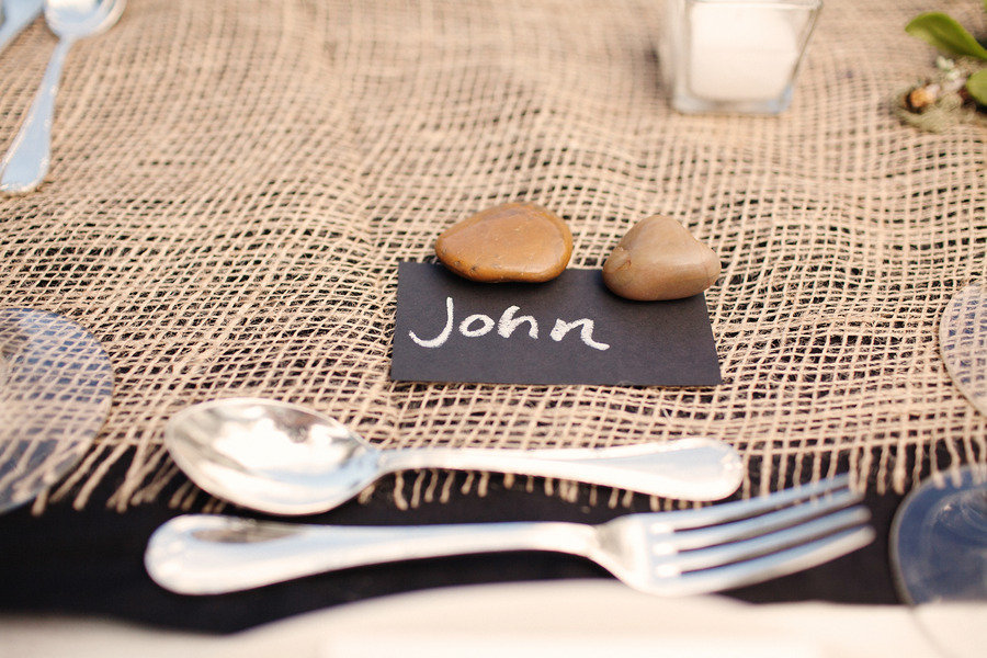 rustic elegant real wedding outdoor wedding ceremony rustic reception place setting