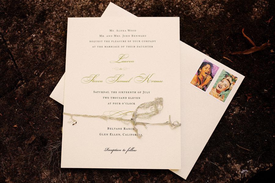 rustic elegant real wedding outdoor wedding ceremony classic wedding invites retro stamps - Outdoor Wedding Invitations