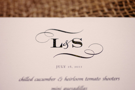 rustic elegant real wedding outdoor wedding ceremony custom monogram