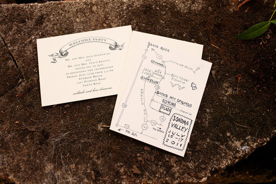 rustic elegant real wedding outdoor wedding ceremony stationery