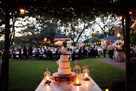 rustic elegant real wedding outdoor wedding ceremony wedding cake