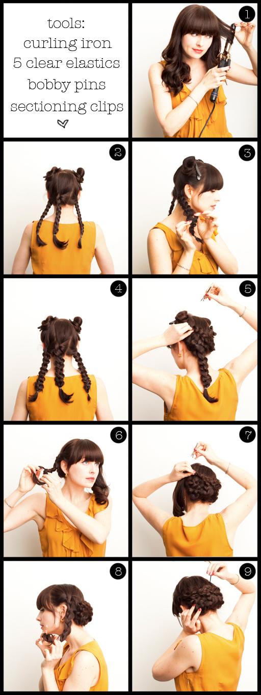 Сделать прическу на средние волосы в картинках