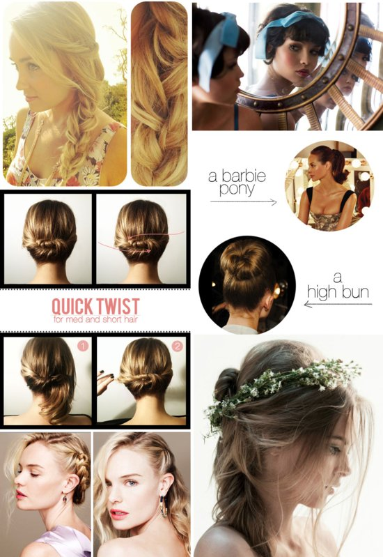 photo of wedding hair tutorials bridal DIY updos celebrity inspiration