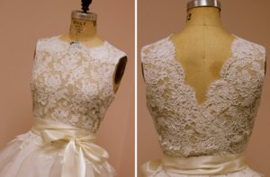photo of Lace bridal top with nude lining