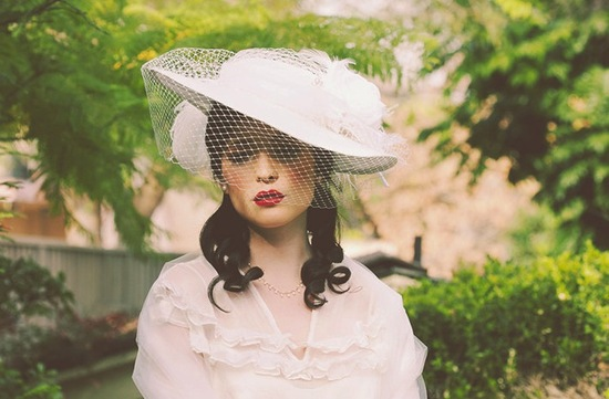 photo of Vintage-inspired wedding hat