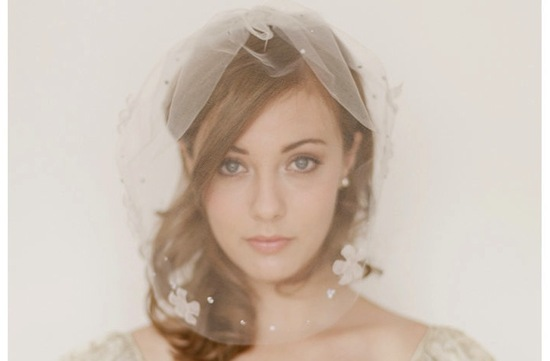 il fullxfull 315472207- soft tulle birdcage veil with floral applique