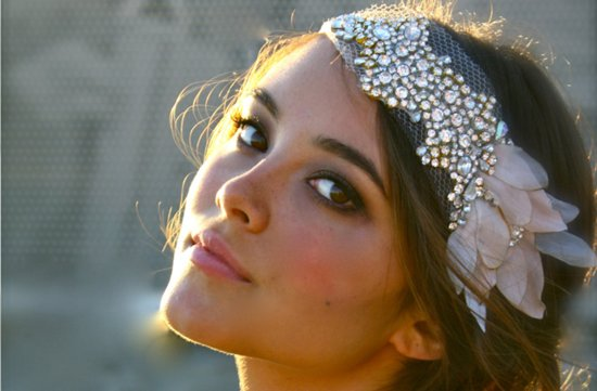 beaded bohemian bride wedding headband